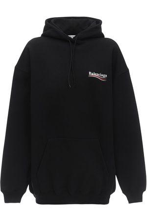 Balenciaga Oversize Political Logo Jersey Hoodie