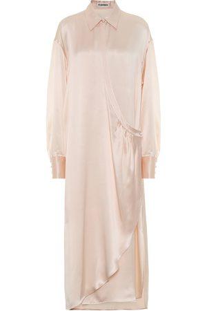 Jil Sander Silk-satin maxi dress