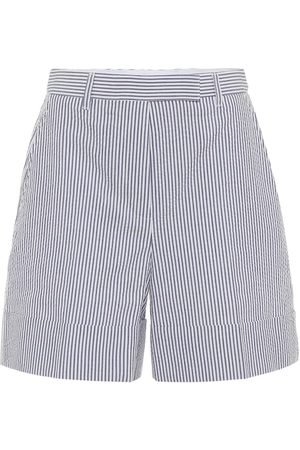 Thom Browne High-rise striped cotton shorts