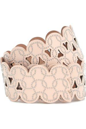 Alaïa Embellished laser-cut leather belt