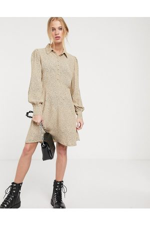 & OTHER STORIES & dot print shirt dress in
