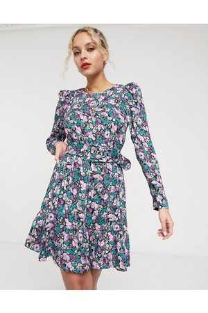 & OTHER STORIES & floral print belted mini dress in multi