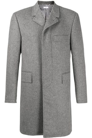 Thom Browne Mid-length chesterfield coat - Grey