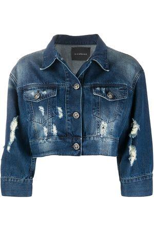 John Richmond Women Denim Jackets - Cropped denim jacket