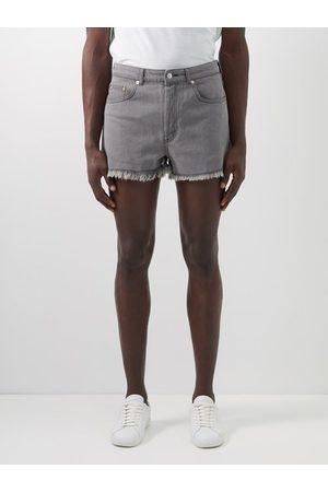 Raey Frayed-hem Denim Shorts - Mens - Grey