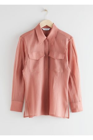 & OTHER STORIES Semi-Sheer Hourglass Blouse