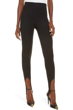 Saint Laurent Women's Compact Jersey Stirrup Leggings