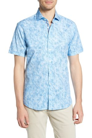 Brax Men's Kelly Hi-Flex Modern Fit Short Sleeve Button-Up Shirt