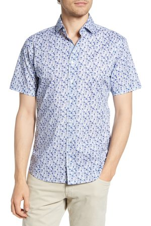 Brax Men's Kelly Hi-Flex Modern Fit Floral Short Sleeve Button-Up Shirt