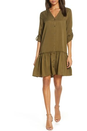 FOREST LILY Women's Long Sleeve Shirtdress
