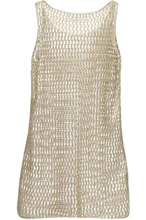 FAITH CONNEXION Metallic Knitted Top