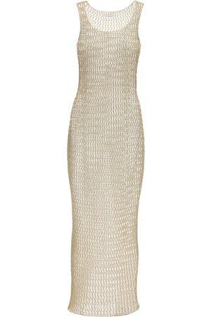 FAITH CONNEXION Metallic Knitted Long Dress
