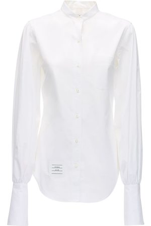 Thom Browne Cotton Poplin Shirt W/ Gathered Sleeves