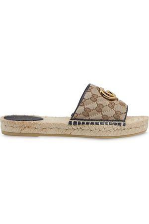 Gucci Women Espadrilles - Double G open-toe espadrilles - Neutrals