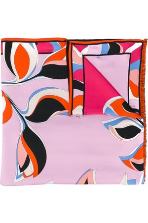 Emilio Pucci Printed fringed scarf