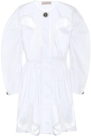Christopher Kane Embellished cotton minidress