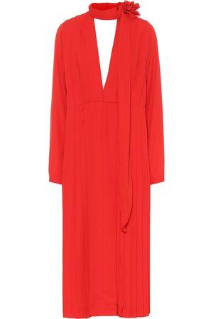 Victoria Beckham Pleated chiffon dress