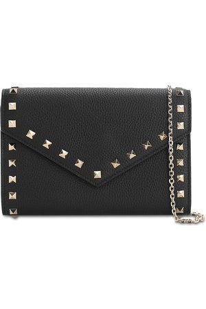 VALENTINO GARAVANI Rockstud Smooth Leather Chain Wallet