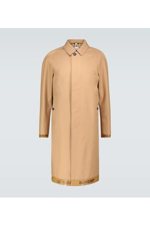 Burberry Mackintosh coat with logo trim