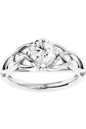 SuperJeweler 1 Carat Celtic Love Knot Diamond Engagement Ring in 14K (4.30 g) (