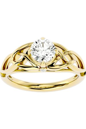 SuperJeweler 1 Carat Celtic Love Knot Moissanite Engagement Ring in 14K (4.30 g)