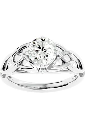 SuperJeweler 1.5 Carat Celtic Love Knot Moissanite Engagement Ring in 14K (4.60 g)