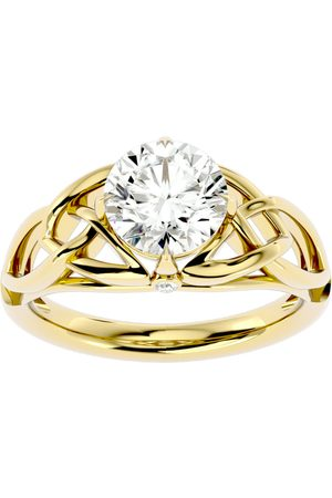 SuperJeweler 2 Carat Celtic Love Knot Diamond Engagement Ring in 14K (5 g) (