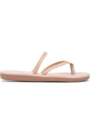 Ancient Greek Sandals Leather thong flip flops - Neutrals