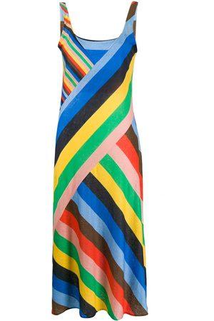 Chinti And Parker Asymmetric striped dress