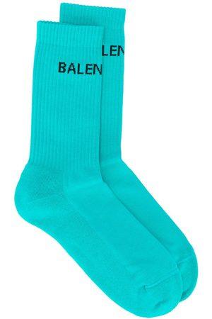 Balenciaga Men Socks - Logo ribbed ankle socks