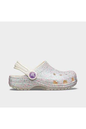 Crocs Little Kids' Classic Glitter Clogs in Size 1.0