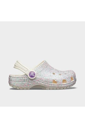 Crocs Little Kids' Classic Glitter Clogs in Size 2.0