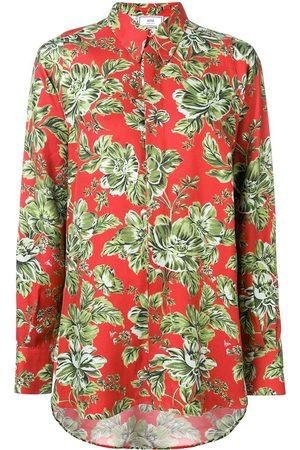 Ami Women Shirts - Floral-print oversized shirt