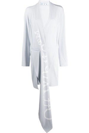 OFF-WHITE Draped-detail asymmetric coat