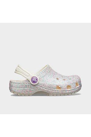 Crocs Kids' Toddler Classic Glitter Clogs in Size 4.0