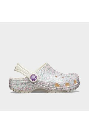 Crocs Kids' Toddler Classic Glitter Clogs Shoes in Size 8.0
