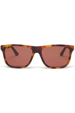 Gucci Square Tortoiseshell-effect Acetate Sunglasses - Mens