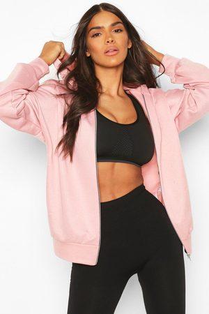 Boohoo Womens Fit Zip Through Gym Hoodie - - 2