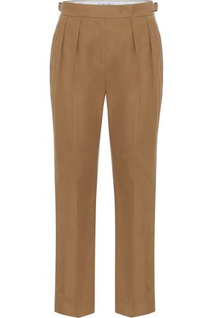 Max Mara Polonia high-rise slim cotton pants