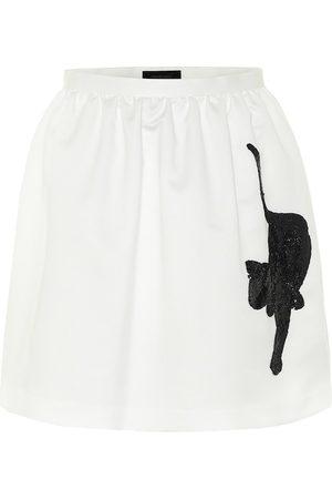 UNDERCOVER Embellished nylon miniskirt