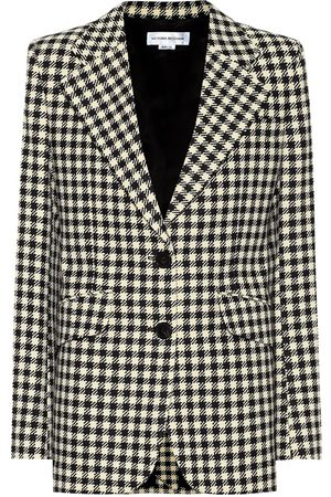 Victoria Beckham Houndstooth single-breasted blazer