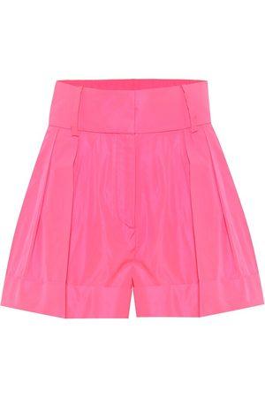 VALENTINO Women Shorts - High-rise wide-leg taffeta shorts