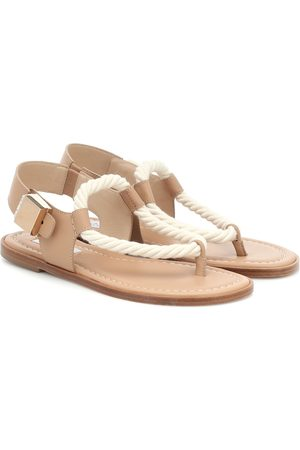 GABRIELA HEARST Zephyr suede and rope sandals