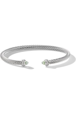 David Yurman Sterling diamond cable bangle