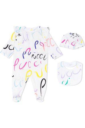 Emilio Pucci Logo-print ruffled pajama