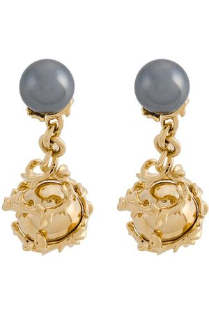 KASUN LONDON Orb and pearl cufflinks - Metallic