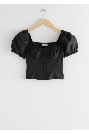& OTHER STORIES Puff Sleeve Jacquard Top