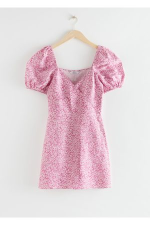 & OTHER STORIES Fitted Puff Sleeve Mini Dress