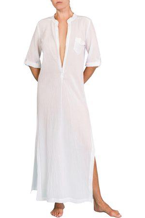 Everyday Ritual Women Beach Dresses - Women's Plunge V-Neck Cotton Caftan