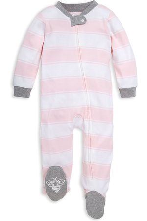 Burt's Bees Infant Girl's Baby Rugby Stripe Footie